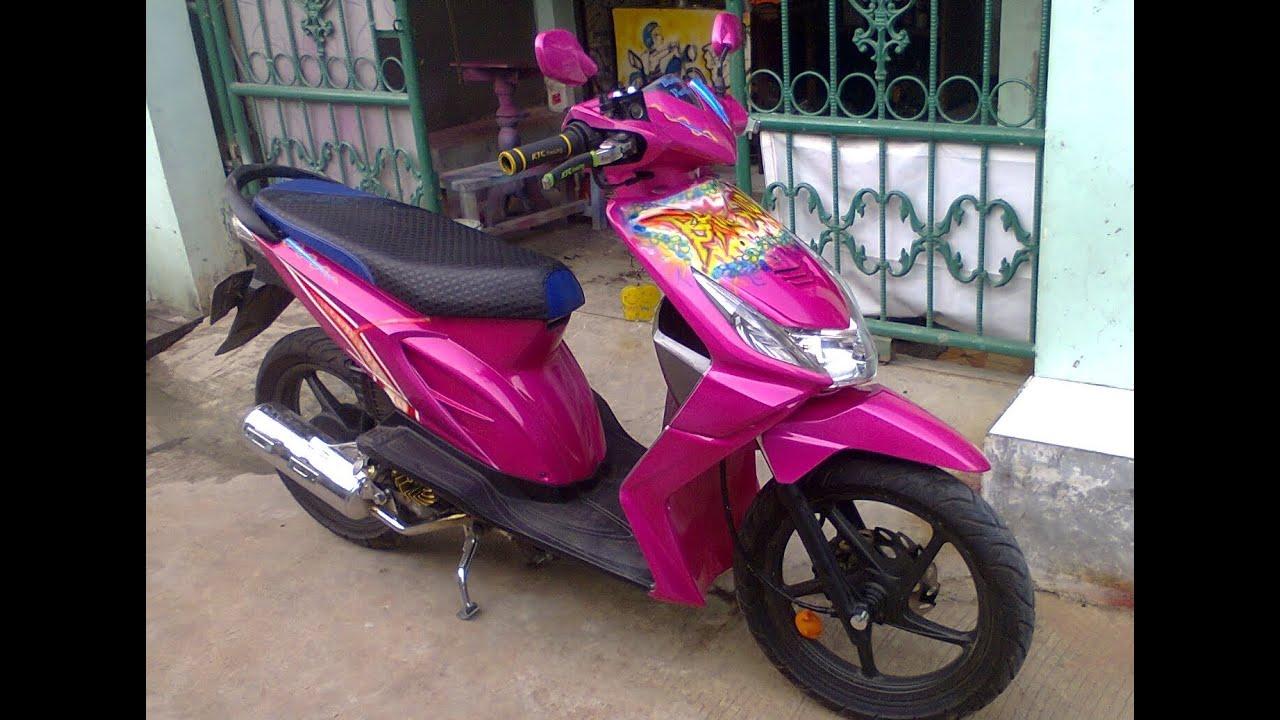 65 Gambar Modifikasi Motor Beat Warna Pink Terbaru Dan Terkeren