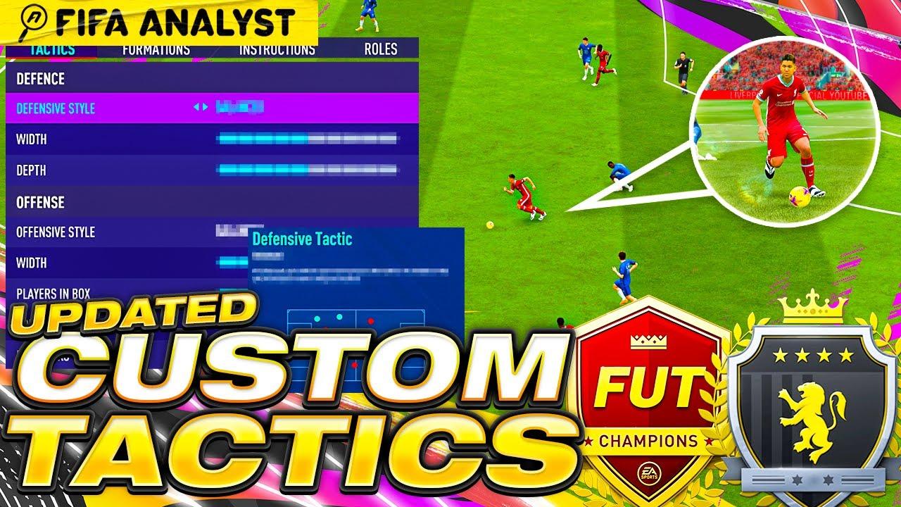 FIFA 21 CUSTOM TACTICS WITH PLAYER INSTRUCTIONS | UPDATED META CUSTOM TACTICS | FUT 21
