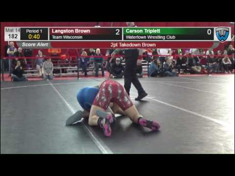 182 Langston Brown Team Wisconsin vs Carson Triplett Watertown Wrestling Club 6476520104