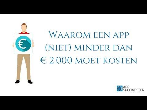 App-development: waarom een app (niet) minder dan € 2.000 moet kosten