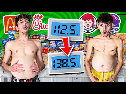 Who Can GAIN the MOST WEIGHT in 24 HOURS - 100,000 Calories Challenge - FaZe Rug