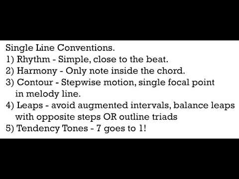 Music Theory 1 - Video 17: Voice Leading Conventions.