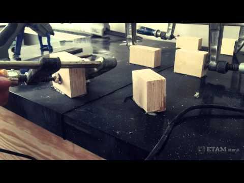 видео: Склеивание и шлифовка столешниц etamstone - изготовление столешниц из искусственного камня (акрил) -