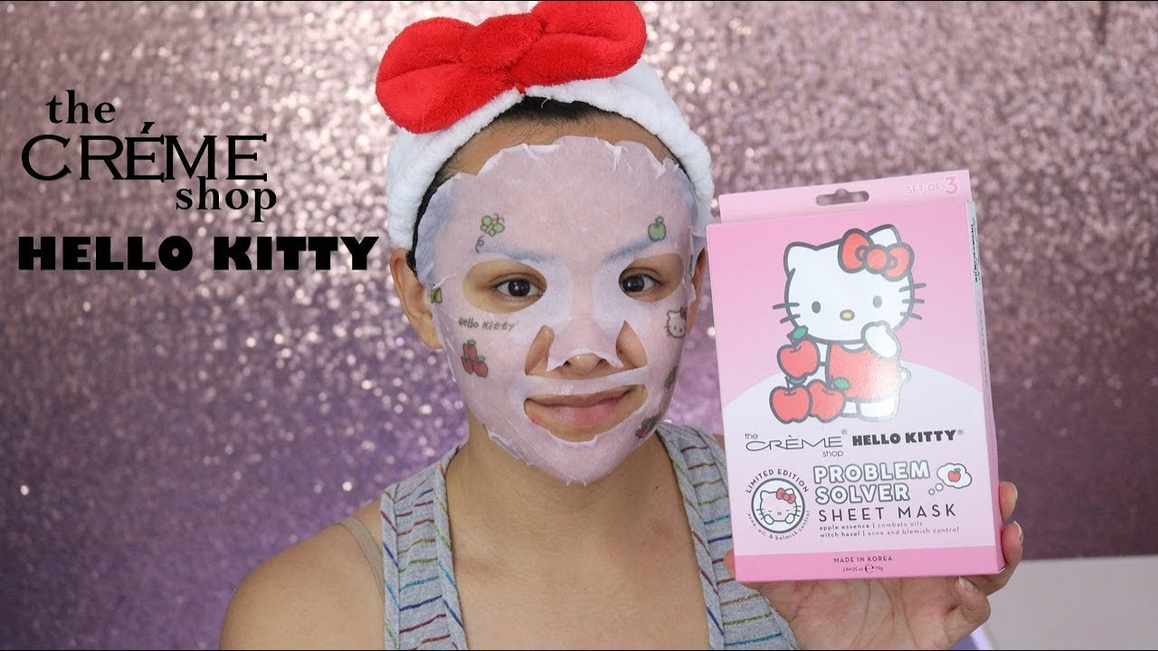 7b49dfd05 The Creme Shop x Hello Kitty | Facial Therapy - YouTube