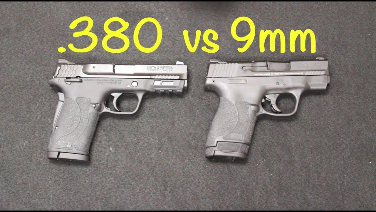 S&W Shield 380 EZ vs Shield 2 0 9mm