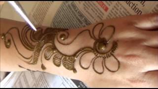 Romantic Mehendi Floral Design:How To Draw Mehndi On Upper Side