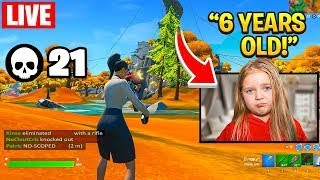 6 Year Old Plays Fortnite with FaZe H1ghSky1 and NoCloutCris