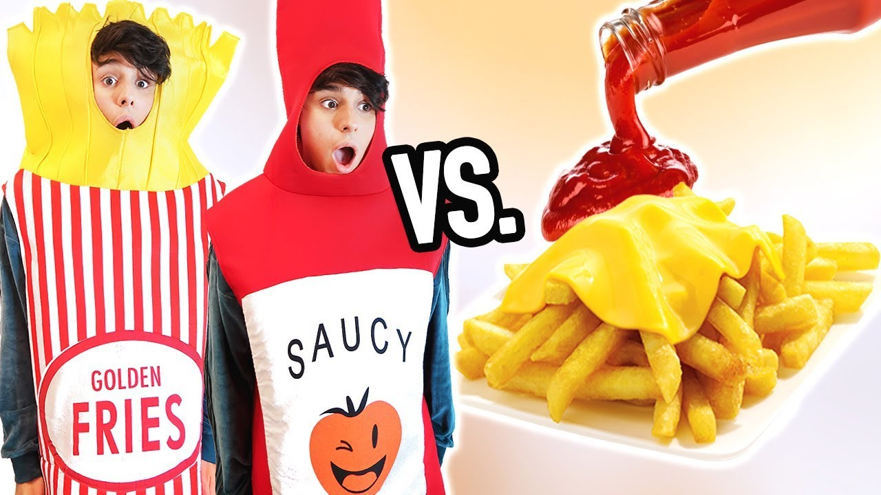 real food vs halloween costumes lmao