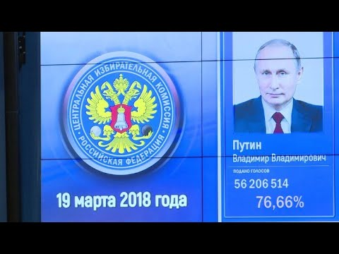 Putin logra victoria aplastante en presidenciales rusas