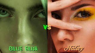 Halsey Vs Billie Eilish   VOCAL BATTLE (D3 - C#5 - E5)