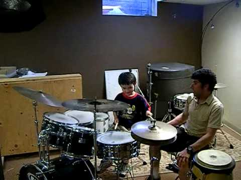 4 Year Olds First Drum Lesson