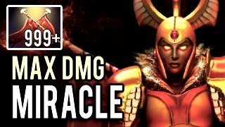 Miracle- is NOT Human! 2k DAMAGE 1200 GPM Immortal Legion Commander 9000 MMR Gameplay Dota 2