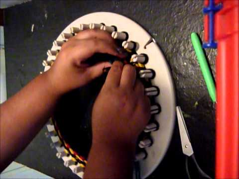 Gorro boina en telar circular