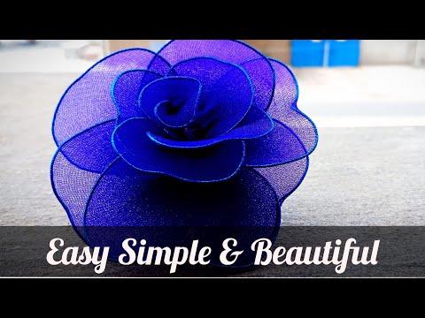 Gift FLower   Stocking Net Flower   Decoration Flower   Handmade Paper Craft (Tutorial)