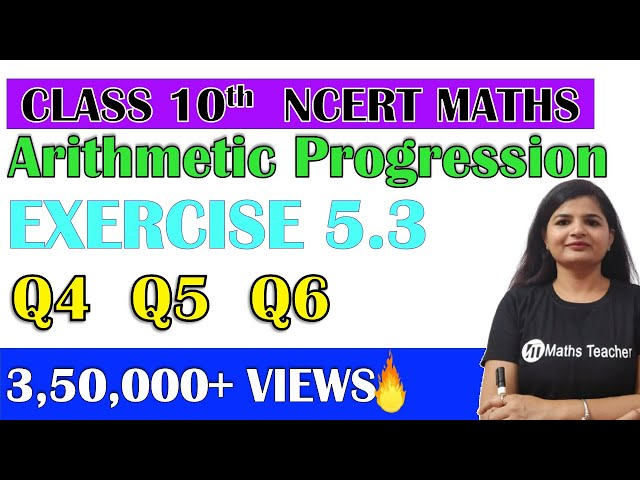 Chapter 5 Arithmetic Progression Ex 5.3 Q4 Q5 Q6 class 10 Maths