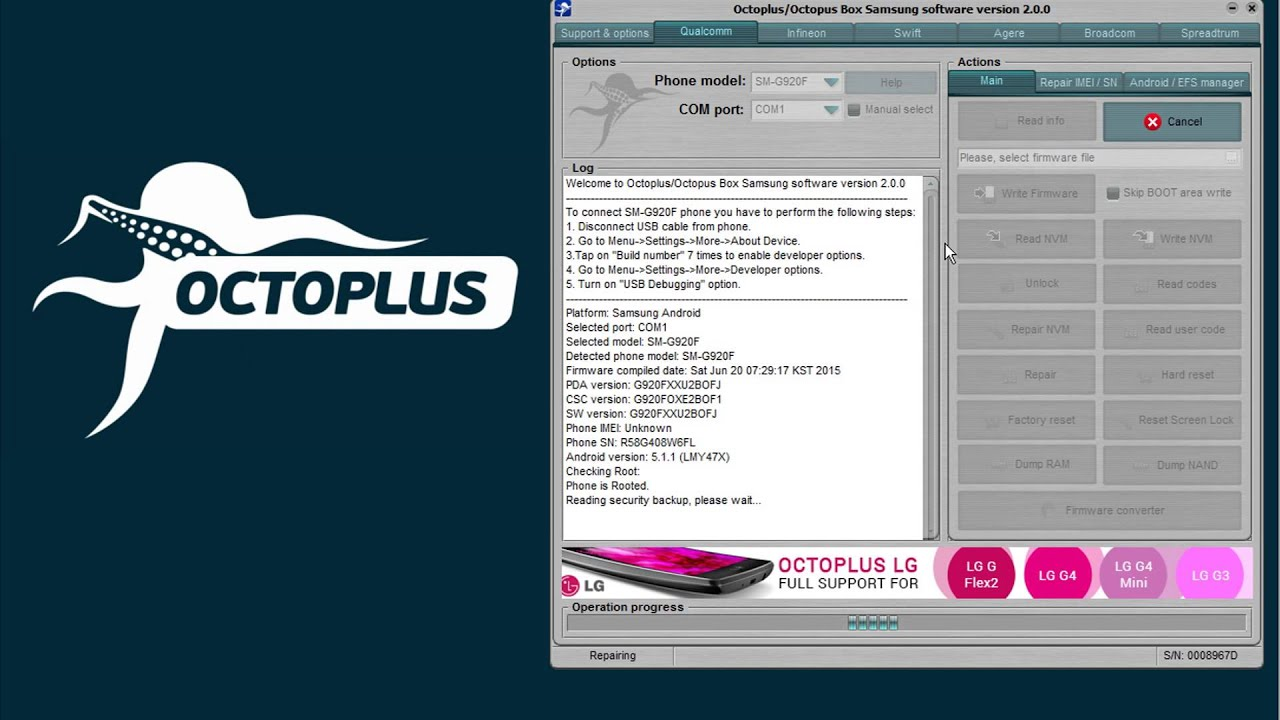 Octoplus Box Jtag Samsung and LG Activated