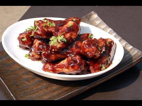 Barbeque Chicken Wings | Chef's Day Out | Chef Afraz | Sanjeev Kapoor Khazana