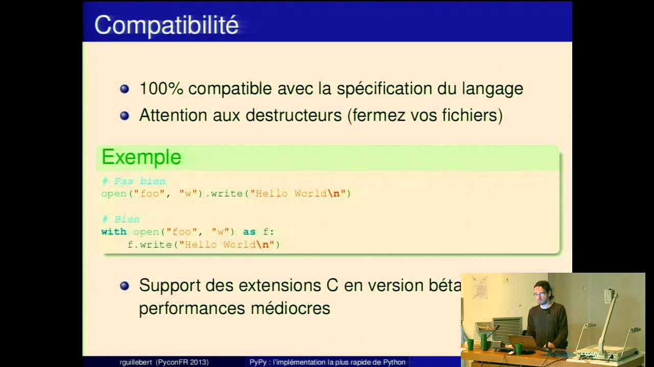 Image from PyPy : une implémentation rapide de Python
