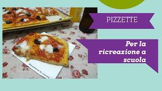 Pizzette per la ricreazione a scuola ❤️ Divertirsi in cucina
