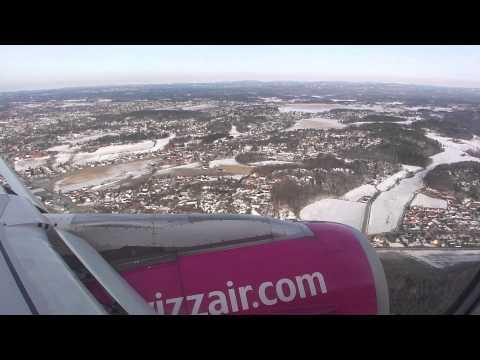 Lądowanie Wizz Air Oslo ( Sandefjord  - Lufthavn - Torp  Airport )