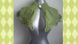 Capelet Shrug Bolero Shawl or Poncho Crochet Pattern.wmv