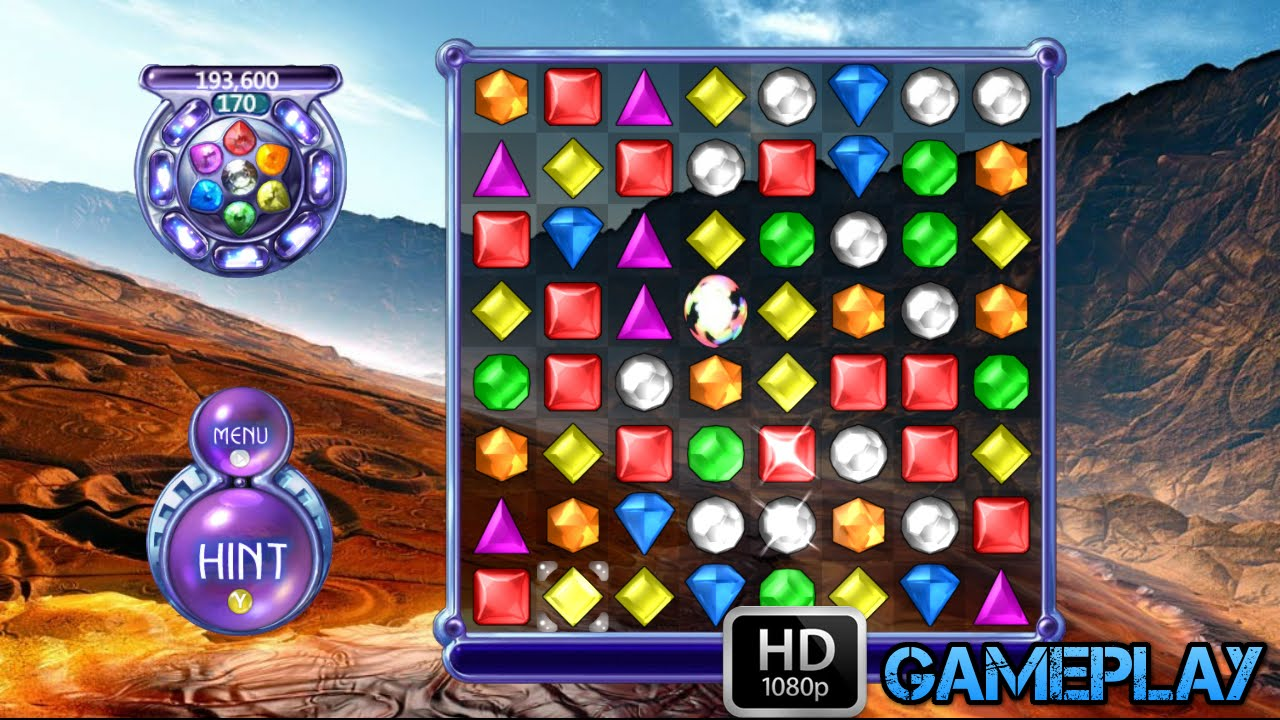 Bejeweled 2 Deluxe Gameplay Youtube