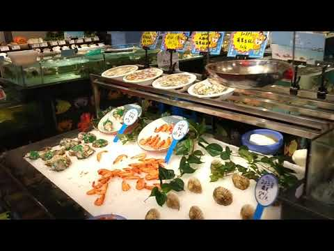Seafood restaurant in Haining, Zhejiang, China that sells fresh live seafood. What an experience