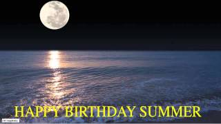 Summer  Moon La Luna - Happy Birthday