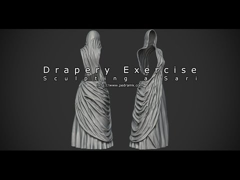 Drapery Exercise - Sculpting a Sari