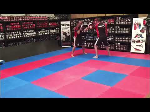 Pad Work Drills For Home Or Gym Training - Basic Hands '4's'