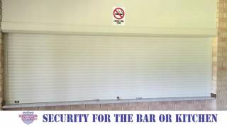 Shutterguard Roller Shutters interior installation - Bar or Kitchen Security