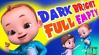 Dark Bright Song | Baby Ronnie Rhymes | Learning Songs For kids | Videogyan 3D Rhymes