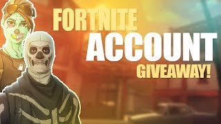 Fortnite Battle Royale - SKULL TROOPER Y GHOUL TROOPER ACCOUNT GIVEAWAY!