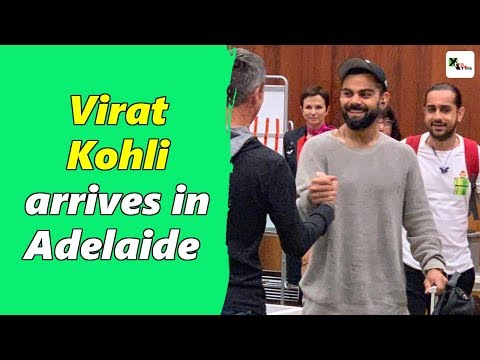 Watch: Virat Kohli reaches Adelaide to play first test against Australia