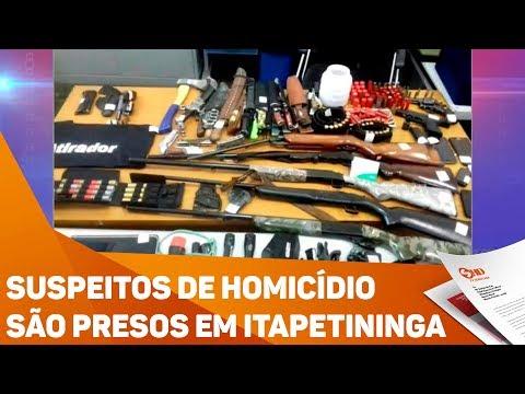 Suspeitos de homicídio são presos em Itapetininga - TV SOROCABA/SBT