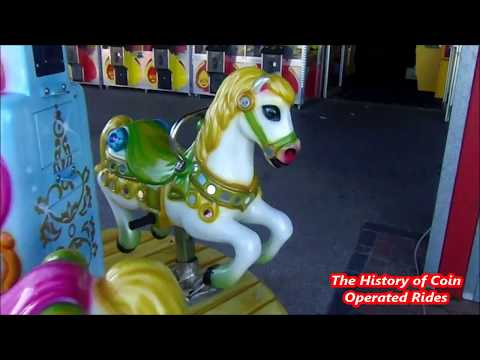 2000s Coin Operated Roundabout Kiddie Ride - Royal Carousel