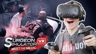 CLUMSY SURGERY IN VR! | Surgeon Simulator VR: Meet the Medic (HTC Vive Gameplay)