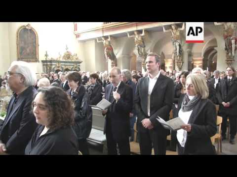 The funeral for celebrated AP photojournalist Anja Niedringhaus, who was killed in Afghanistan by a