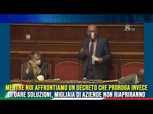 L'intervento del Sen. de Bertoldi sul DL Milleproroghe