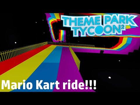 Mario Kart ride!!! Theme Park Tycoon 2 Roblox |