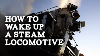 Waking Nickel Plate Road steam locomotive no. 765