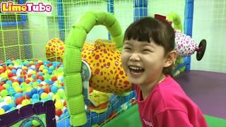 라임의 타요 키즈카페 장난감 놀이& 조니조니 예스파파 Tayo indoor playground & Toy 라임튜브