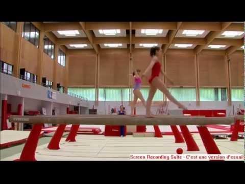 """Gymnastique en poutre à l'INSEP - Reportage Arte """"La"""