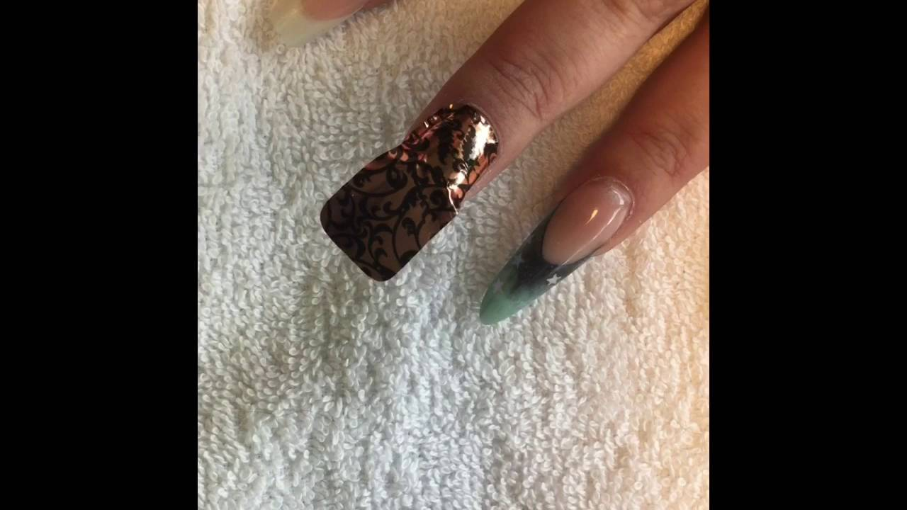 How To Apply Minx Nail Wraps to Natural Nails - YouTube