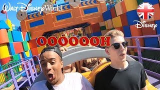 TOY STORY LAND | Check out SLINKY DOG DASH Roller-coaster at Walt Disney World! | Official Disney UK