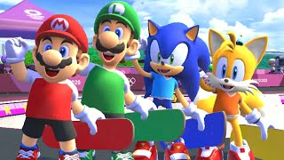Mario & Sonic at the Olympic Games Tokyo 2020 - Skateboarding (All Characters)
