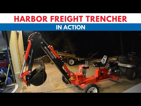 1 Sure way to kill internet - Harbor Freight backhoe trencher at work 62365