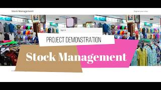 Stock Management - PHP project