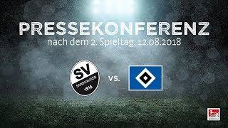 2. Spieltag   Pressekonferenz nach dem Spiel SV Sandhausen - Hamburger SV