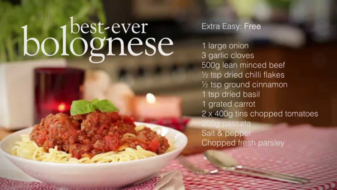 slimming world spaghetti bolognese recipe youtube